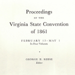 Secession: Virginia and the Crisis of Union